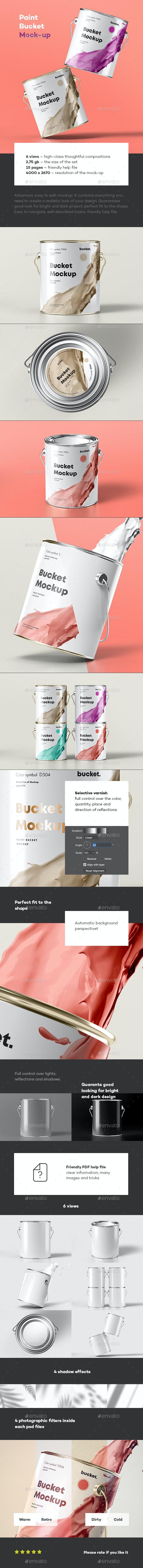 Paint Bucket Mock-up - Miscellaneous Print