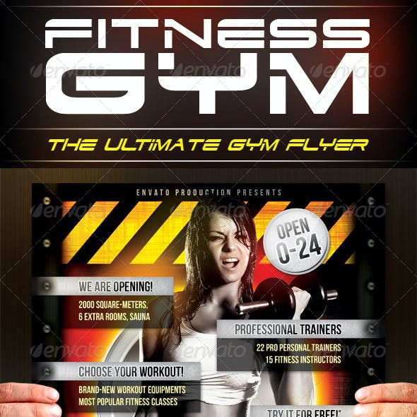 Fitness Gym Flyer Template