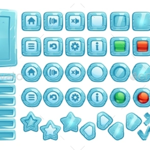 Ice Buttons for Ui Game Gui Elements