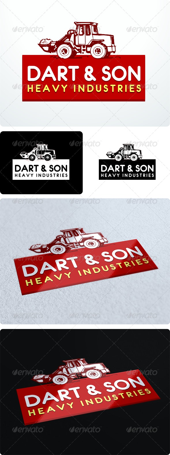 Heavy Industry Logo Design - Objects Logo Templates