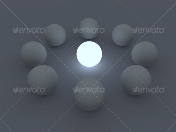Glowing Sphere Circle - 3D Backgrounds