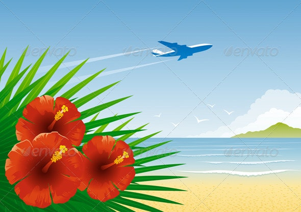 Tropical Beach - Travel Conceptual