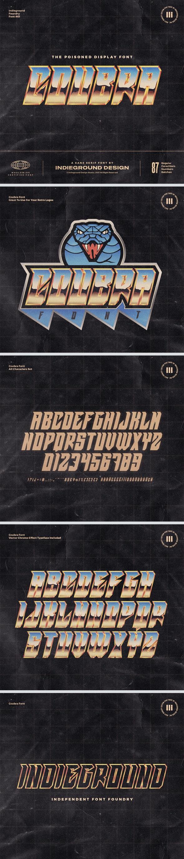 Coubra Font - Cool Fonts