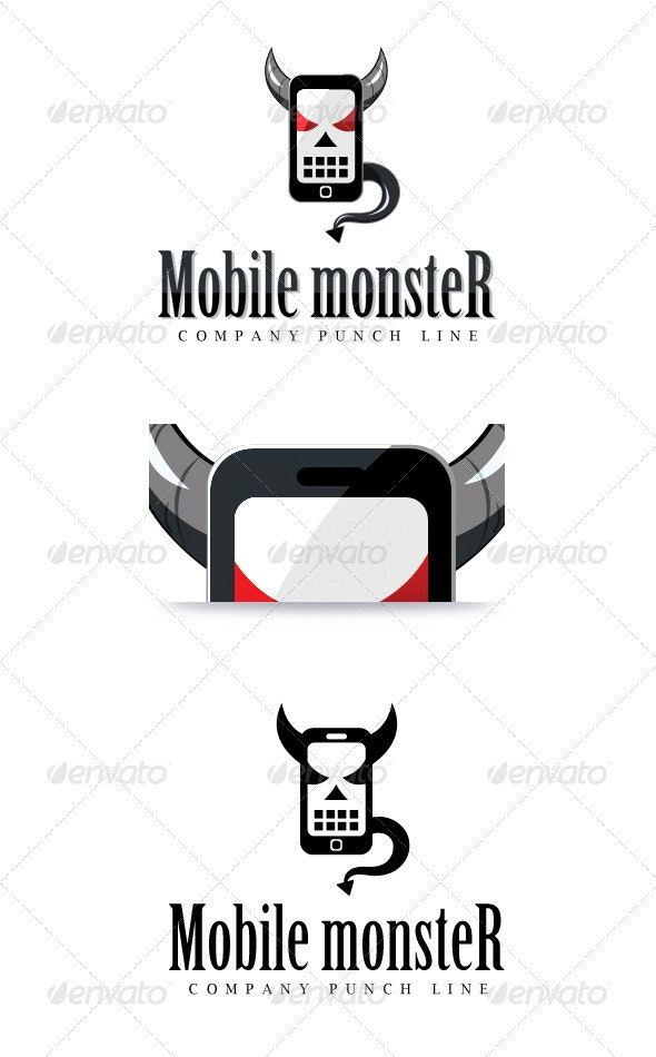 Mobile Monster - Objects Logo Templates