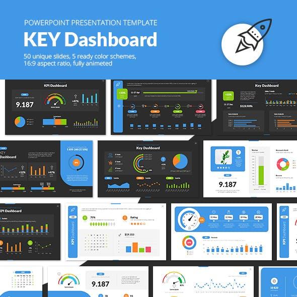 Key Dashboard PowerPoint Presentation Template