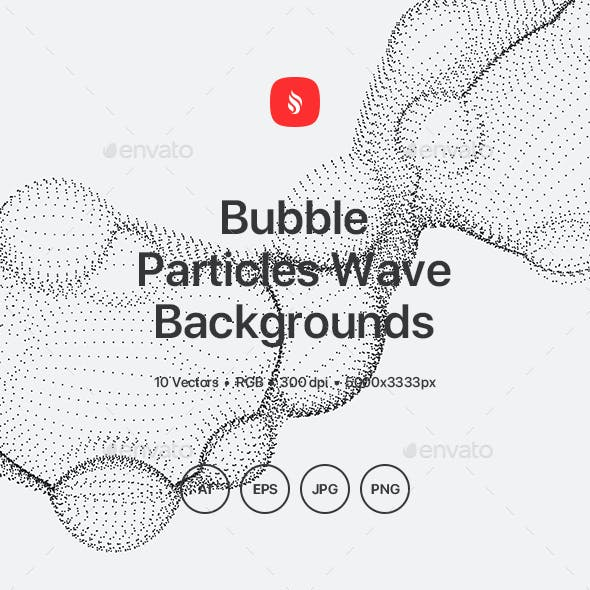 Bubble - Particles Wave Background