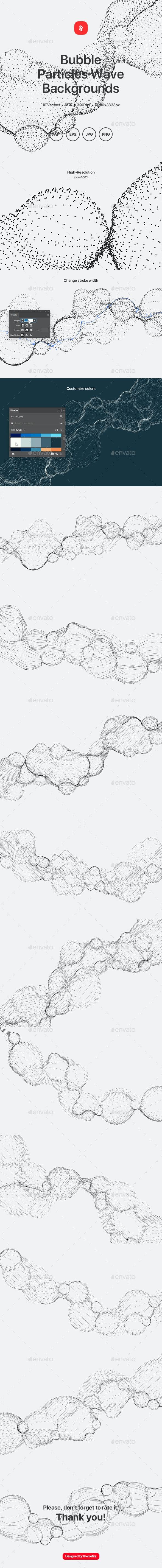 Bubble - Particles Wave Background - Tech / Futuristic Backgrounds