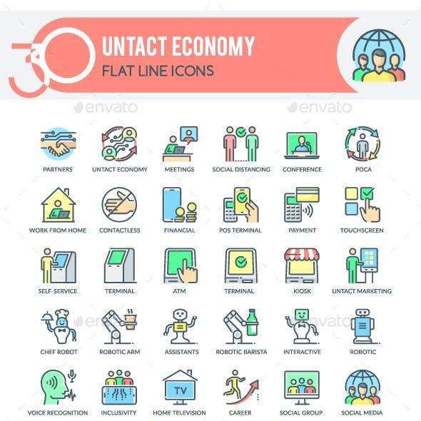 Untact Economy Icons