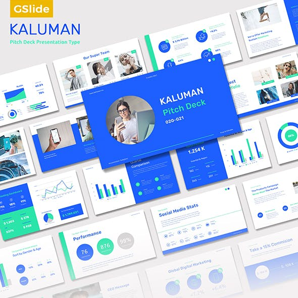Kaluman - Pitch Deck Presentation Google Slides Templates