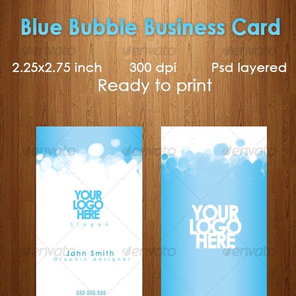 Blue Bubble Business Card