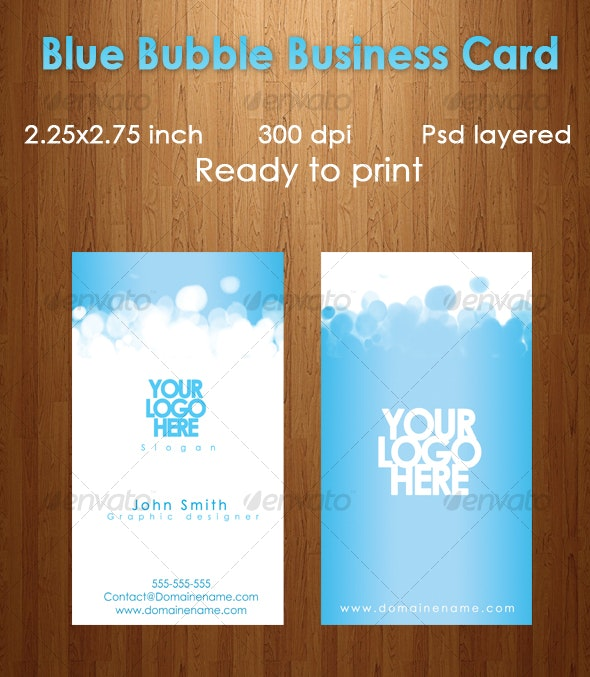 Blue Bubble Business Card - Creative Business Cards