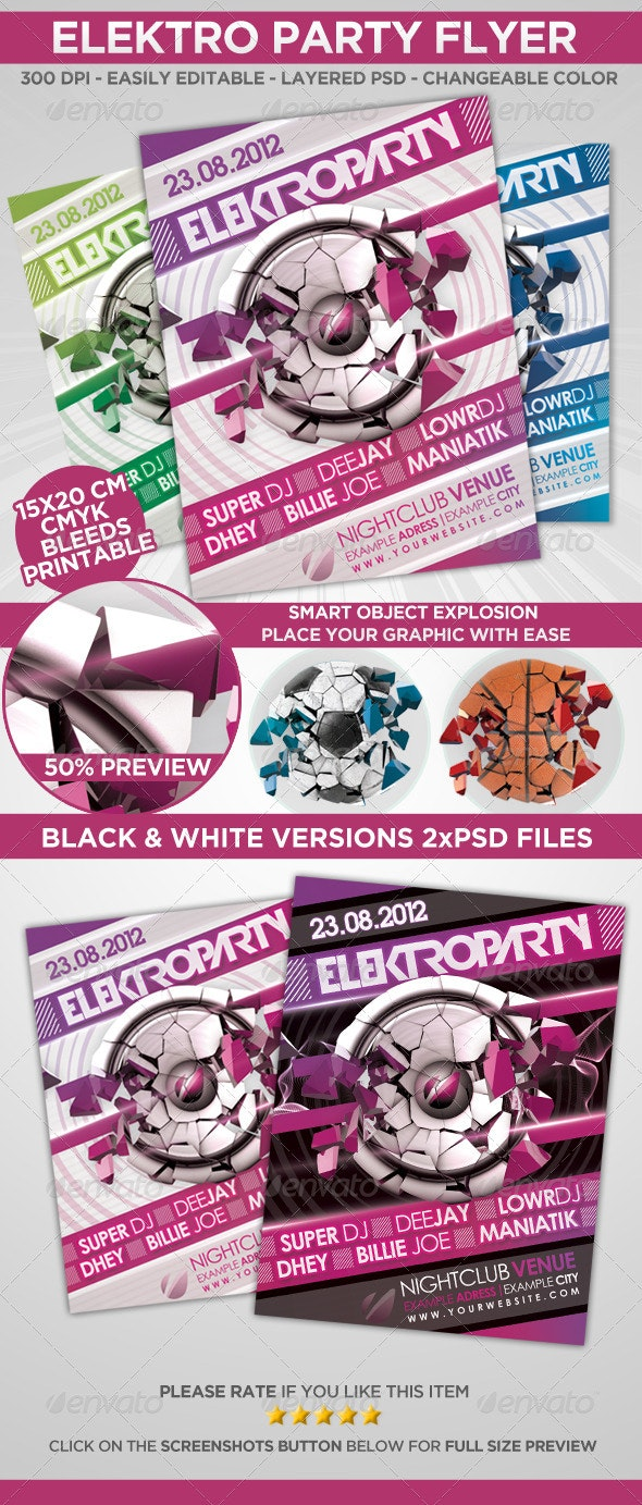 3D Explosion Flyer/Poster - Events Flyers