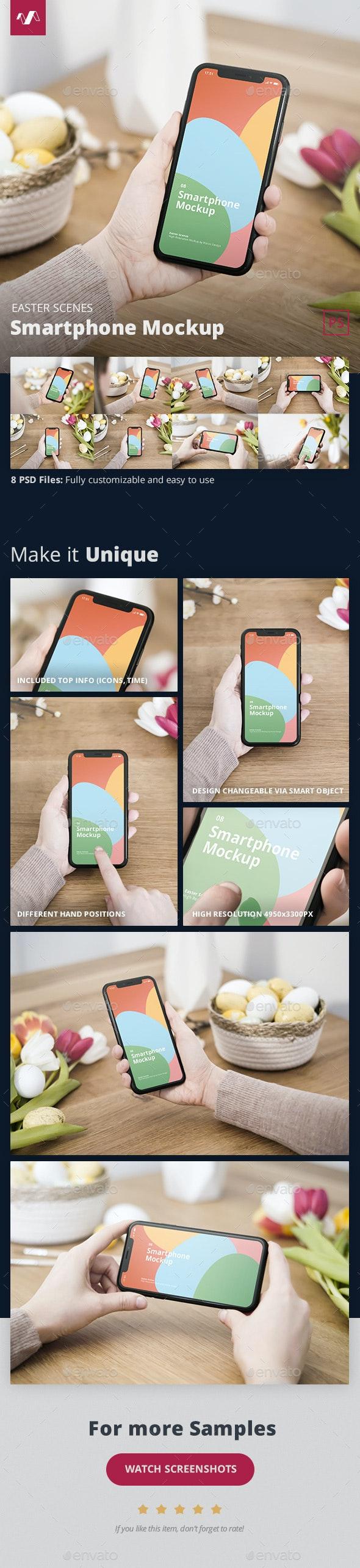 Easter Phone Mockup - Mobile Displays