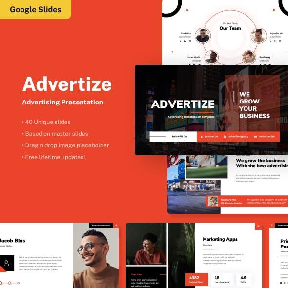 Advertize - Advertising Google Slides Presentation