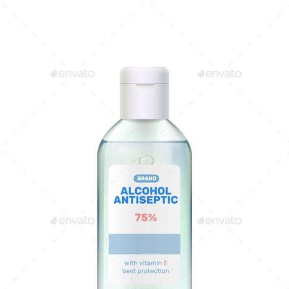 Realistic Hand Sanitizer Composition