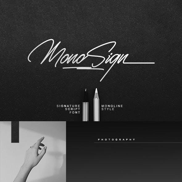Monosign Signature Font