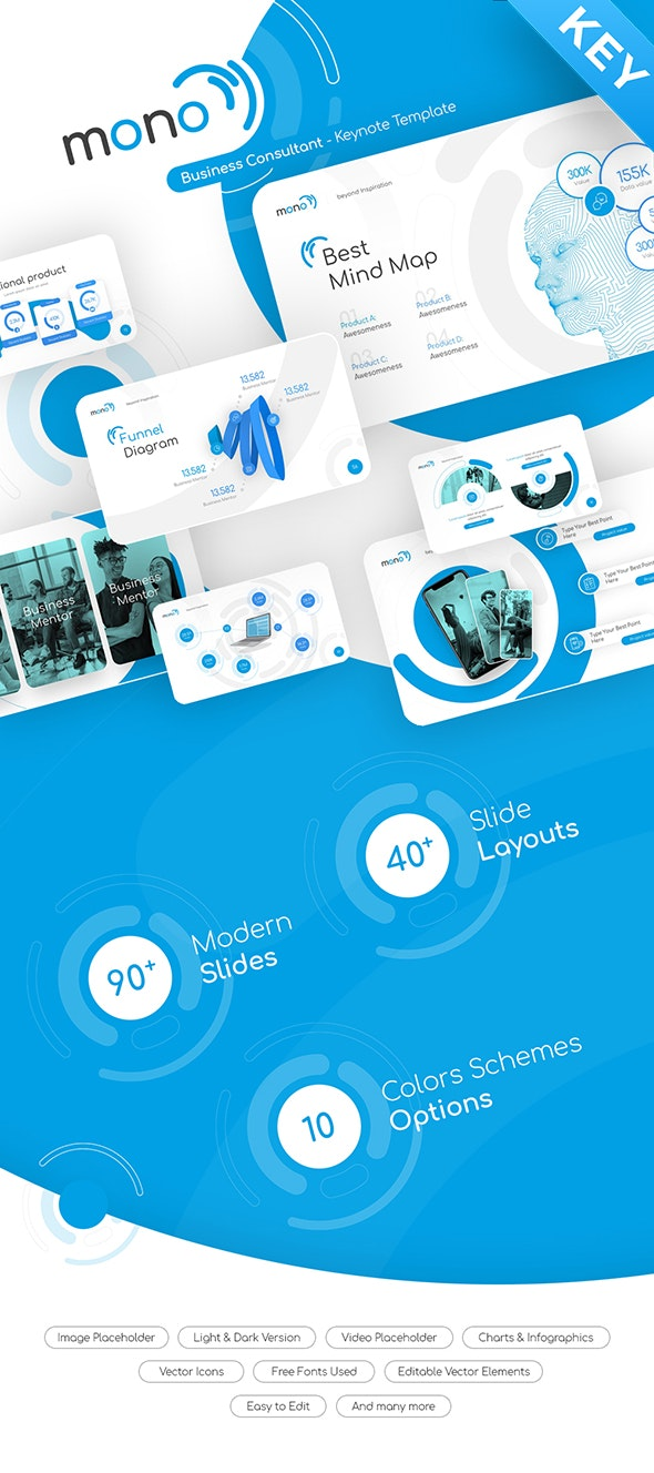 Mono Business Consultant Keynote Presentation Template Fully Animated - Business Keynote Templates