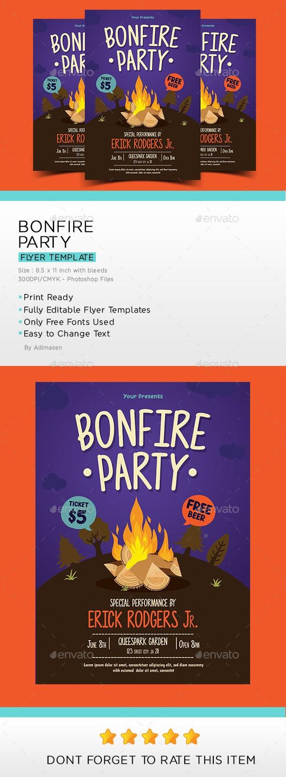 Bonfire Flyer - Events Flyers