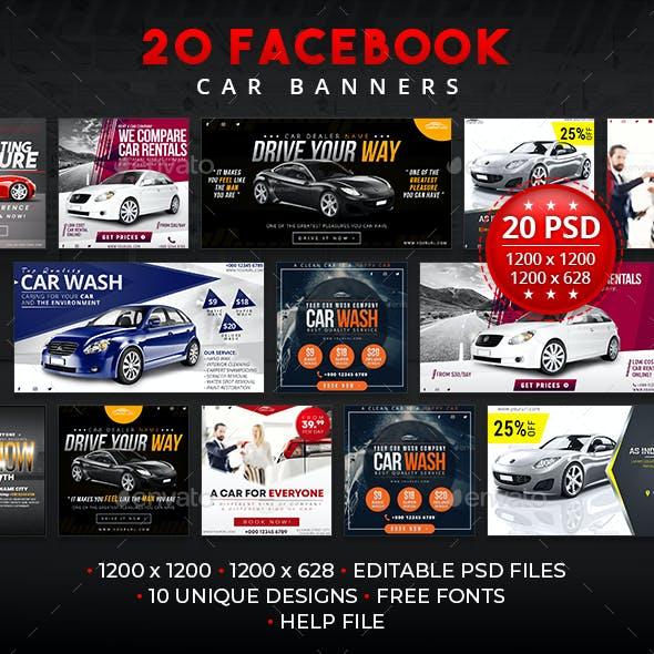 20 Facebook Car Banners