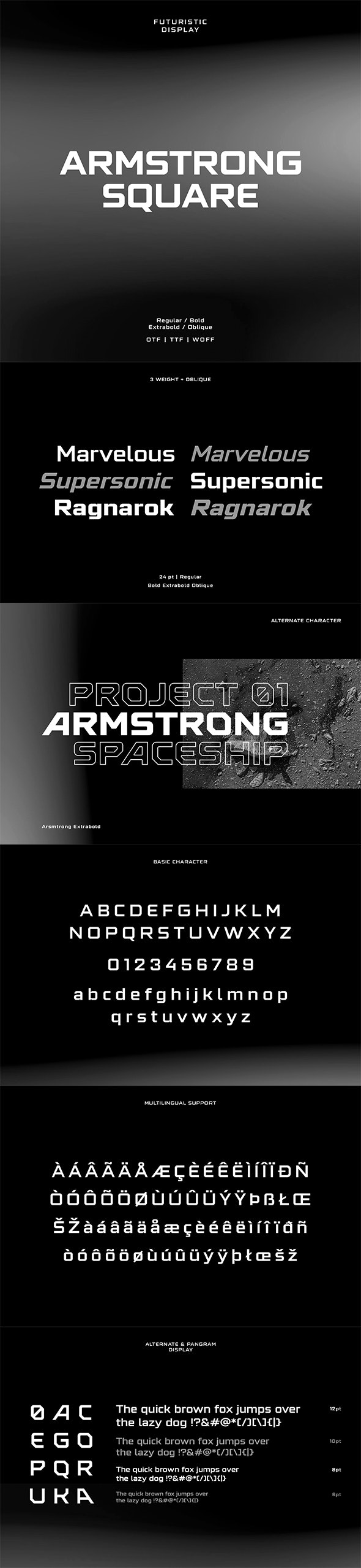 Armstrong Square Display - Sans-Serif Fonts