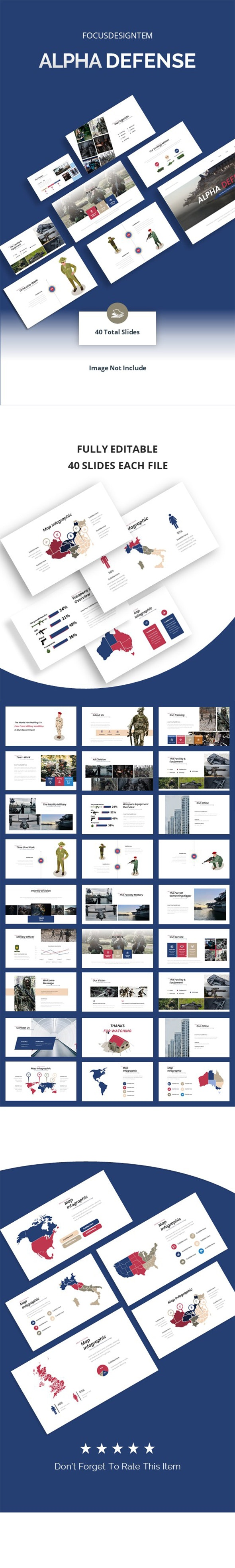 Military Alpha Defense Google Slides Template - Google Slides Presentation Templates