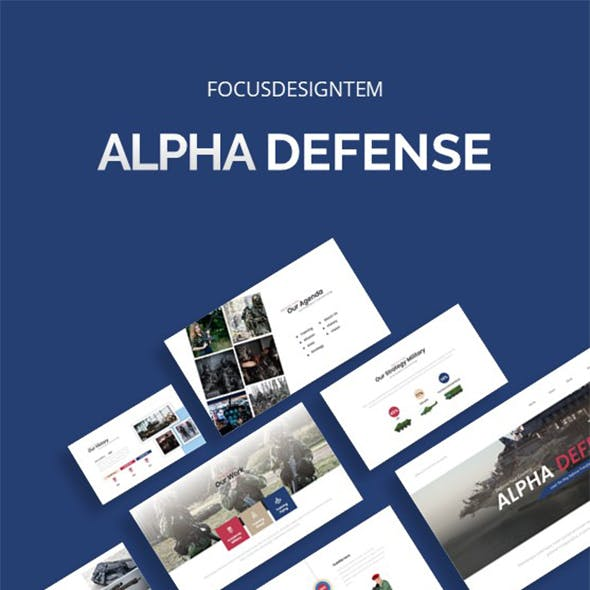 Military Alpha Defense Powerpoint Template
