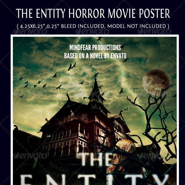The Entity Horror Movie Poster Template