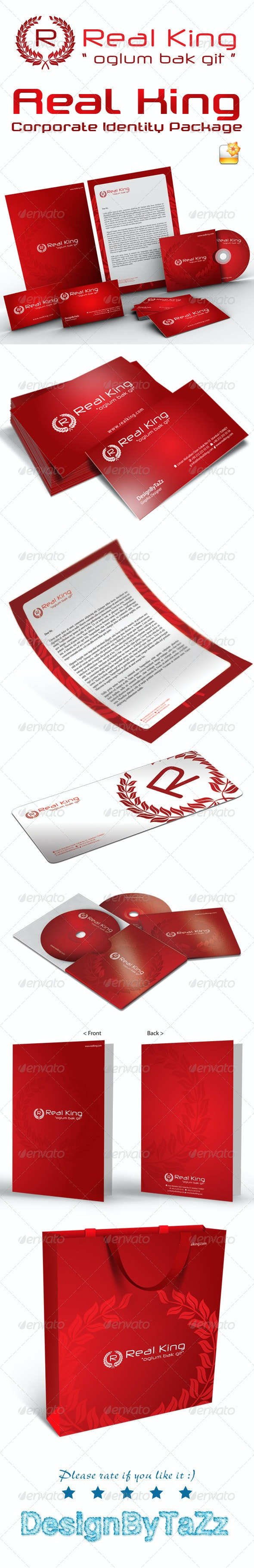 Real King Corporate Identity Package - Stationery Print Templates