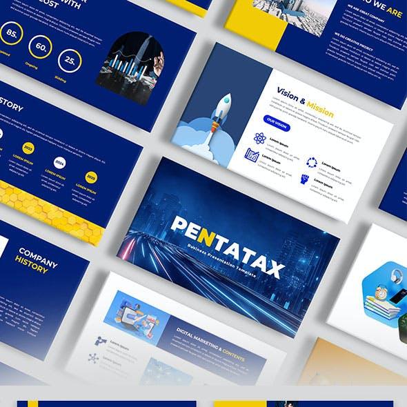 Pentatax – Company Profile PowerPoint Template
