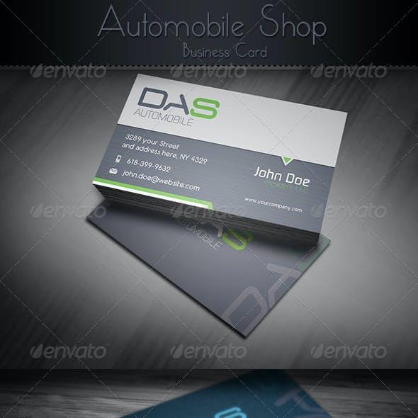 Automobile Shop Business Card