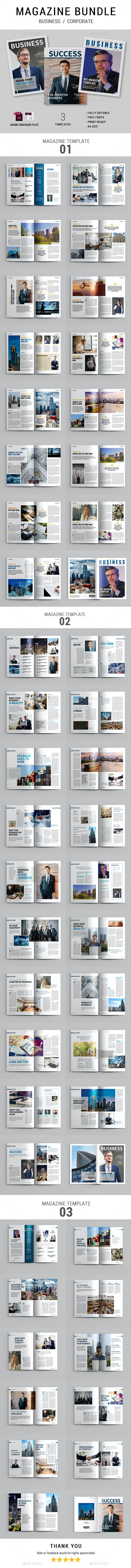 Business Magazine Bundle - Magazines Print Templates