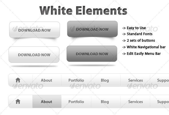 White Web Elements!