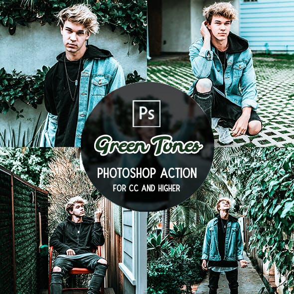 Green Tones - Photoshop Action