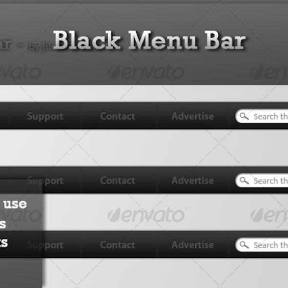 Black Menu Bar