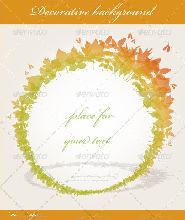 Fall Background - Backgrounds Decorative