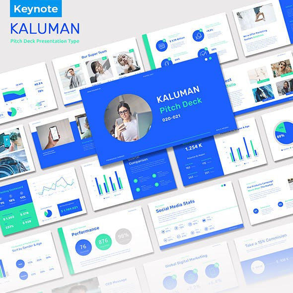 Kaluman - Pitch Deck Presentation Keynote Templates