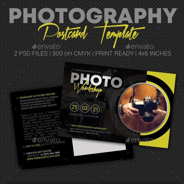 Photography Studio Postcard Template V07
