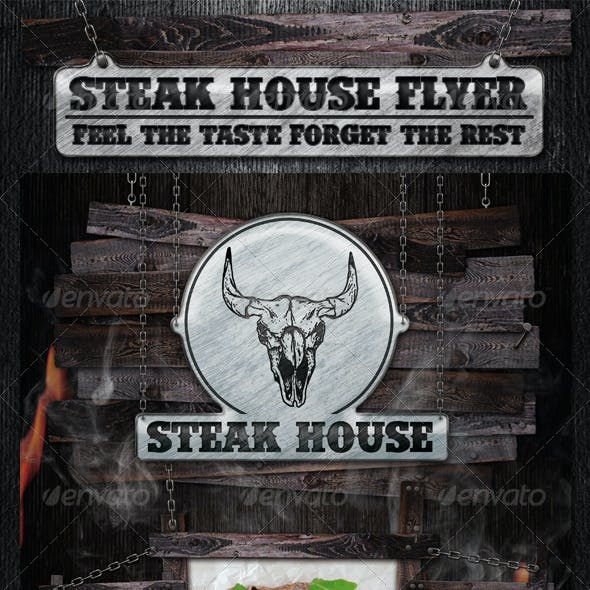 Steak House Flyer Template