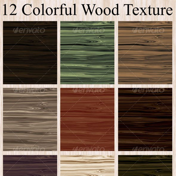 12 Colorful Wood Texture