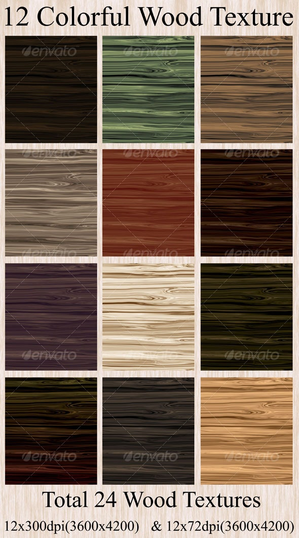 12 Colorful Wood Texture - Wood Textures