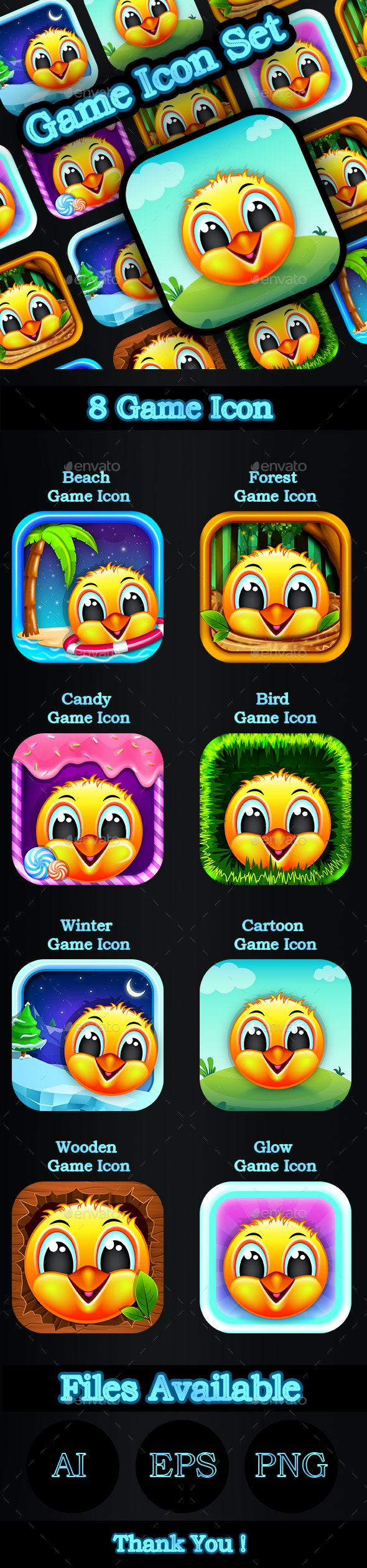 Cartton_Game_Icon_Set - Miscellaneous Icons