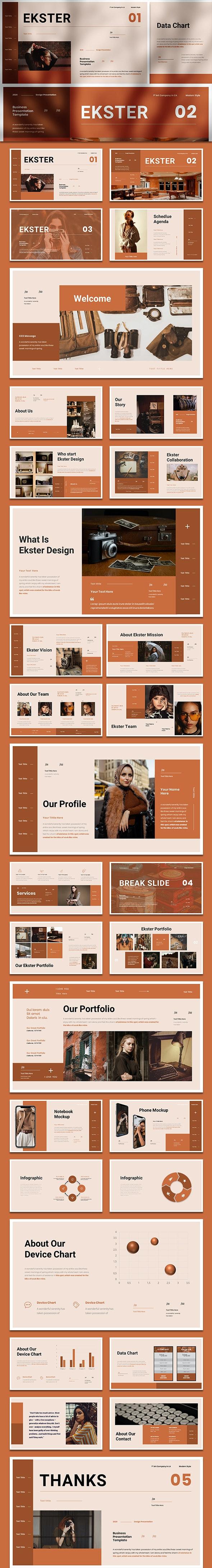 Ekster - Business Presentation Google Slide Template - Google Slides Presentation Templates