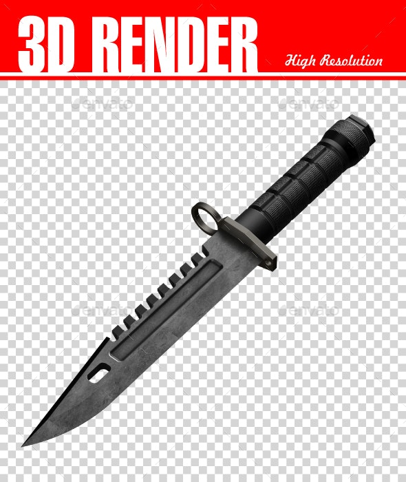 Military Knife - Objects 3D Renders