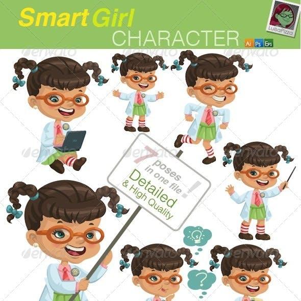 Smart Girl Character