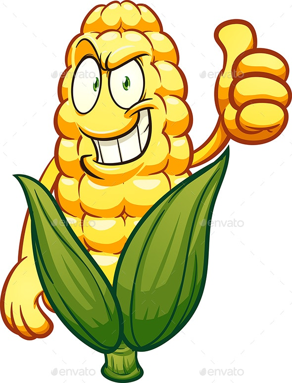 Corn Character - Food Objects