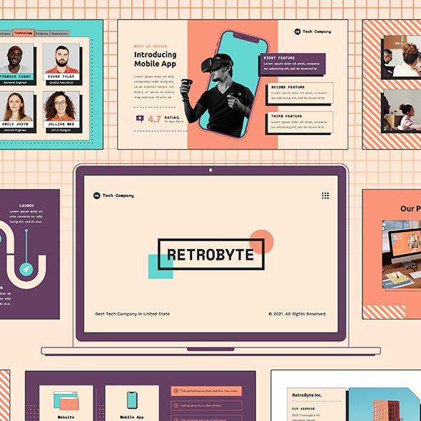 RetroByte: Technology Google Slides Template