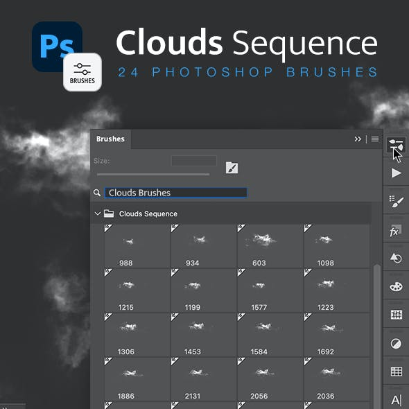 Clouds Sequence Brushes