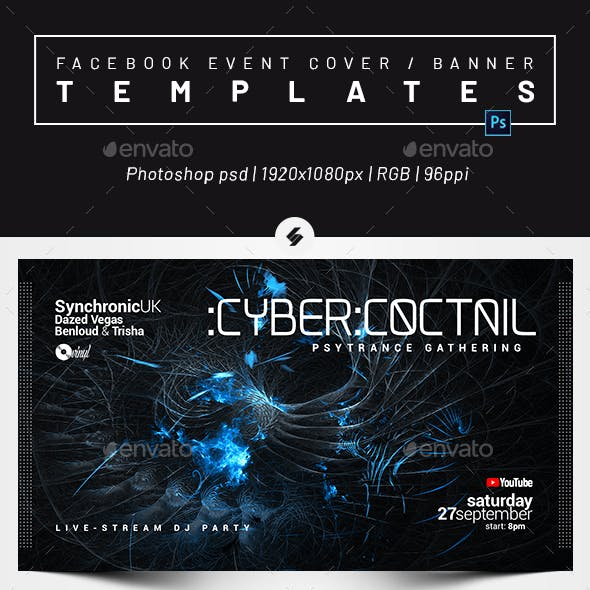 Electronic Music vol.41 – Facebook Event Cover / Banner Templates