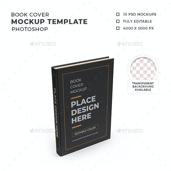 Book Cover 3D Mockup Template