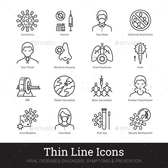 Viral Disease Diagnosis Symptoms Prevention Icon - Technology Icons